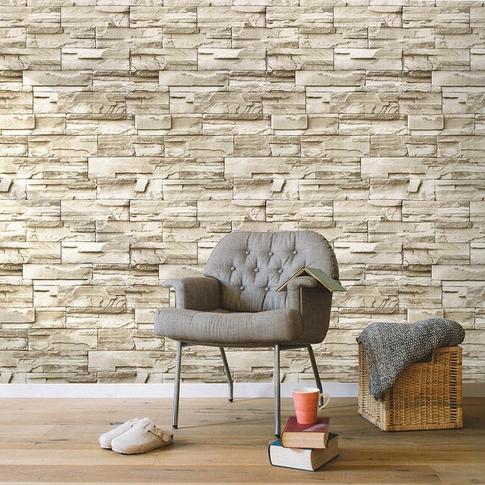 Papel pintado de cáscara y Palo de piedra, papel tapiz de vinilo autoadhesivo 3D para paredes de salón o dormitorio, adhesivo decorativo para el hogar