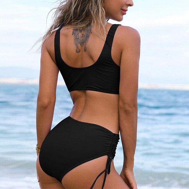 Tie Side High Waist Bikini Set