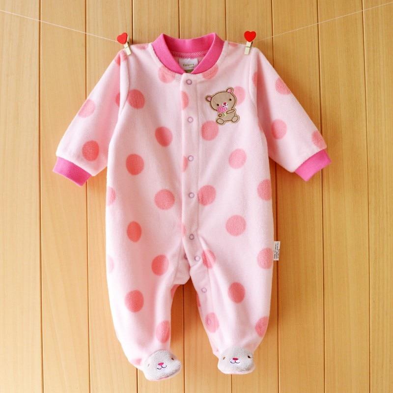 Baby Rompers Höst Vinter Jul baby kostym långärmad Pojke Tjej romper Polar Fleece babykläder overall för nyfödda
