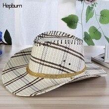 Hepburn brand 2019 cowboy hat men/women horse riding sun Straw Outdoor Wide Brim cap Travel Performance Western Hats Visor