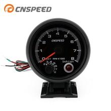 Shift Light Car Tachometer CNSPEED Gauge 0-8000-Rpm 12V 80mm YC100142-CN 4-6-8-Cylinder