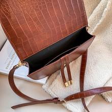 Crocodile Pattern Crossbody Bags Half Round PU Leather Handbags SF