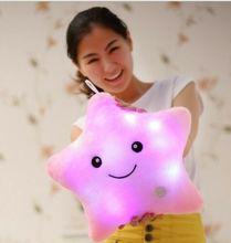 Luminous Pillow Toys Led Light Pillow Plush Colorful Stars kids Festival Christmas недорого