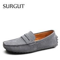SUGRUT Men Casual Shoes Fashion Men Shoes Genuine Leather Men Loafers Moccasins Slip On Men's Flats Male Driving Shoes Size 49 1