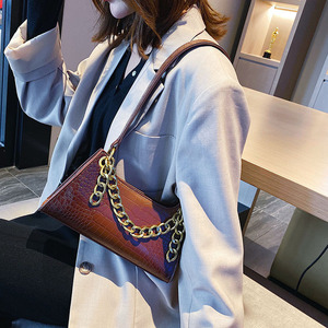 Image 5 - Leather Crossbody Bag For Women Mini Fashion Messenger Bag Retro Evening Handbag Chain Shoulder Bags Small Purse Female boston