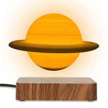 3D Magnetic Levitating Saturn Lamp Night Light 3 Colors Rotating Wireless LED Floating Lamp For Beedroom Novelty Gifts Christmas
