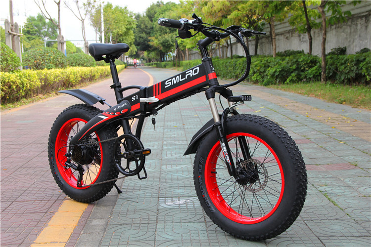 S9F 20inch folding fat electric bike 48v 350w Fat Tire Folding E-Bike For adults 4