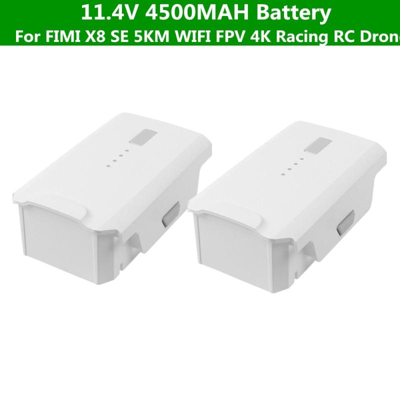 1PCS 2PCS 11.4V 4500mAh Battery  For  FIMI X8 SE 5KM FPV  4K Camera GPS Racing Drone Spare Parts