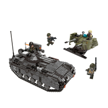 Creator Military Series Armoured Vehicle Cannon Tank Model Building Blocks Sets Bricks Educational Toys For Children gift new century military m1a2 abrams tank cannon deformation hummer cars building blocks bricks figures toys for children
