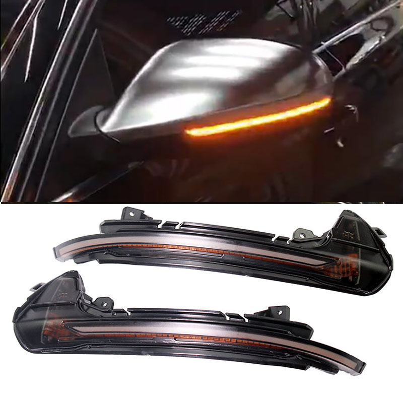 LED Side Wing Mirror Indicator Blinker Repeater Light For Audi A6 C7 2012 2013 2014 2015 2016 2017 18 Water Flowing Turn Signal image