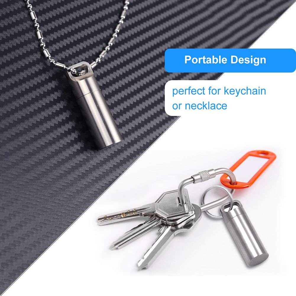 Portable Mini Pill Cases For Outdoor Travel Delicate Aluminum Waterproof Medicine Box Drug Capsule Cartridge Pillcase Keychain