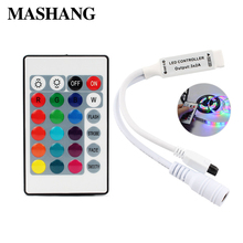 DC 12V Mini 24key Remote Controller IR RGB RGBW Controller with Mini Dimmer for SMD 3528 5050 5630 3014 LED Strip Lights dc 12v mini 24key remote controller ir rgb rgbw controller with mini dimmer for smd 3528 5050 5630 3014 led strip lights