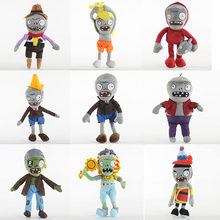 30cm PVZ Plants vs Zombies Dolphin Rider Zombie Plantas vs zombies Plush Toys Doll Soft Stuffed Toys Gifts for Kids Children(China)