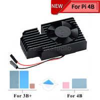 Nowość w magazynie! CNC ekstremalne chłodzenie radiator z wentylatorem zestaw dla Raspberry Pi 4B/3B +/3B Plus, nie jest kompatybilny z 3B pokładzie