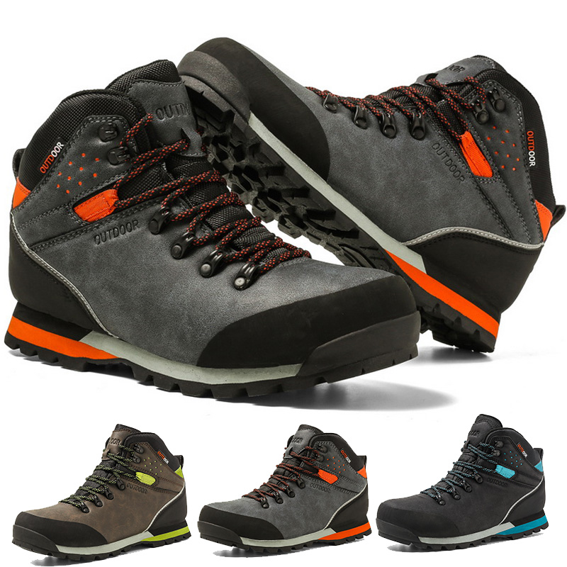 Waterproof Hiking Shoes For Men Suede Mountain Climbing Shoes Quality Outdoor Trekking Shoes Breathable Hiking Hunting Boots|Hiking Shoes| |  - title=