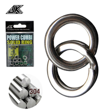 JK 4.5mm-8mm Fishing Ring Combi Stainless Steel Solid Lure Split Rings Connector For Metal Jig Bait DIY Assist Hook