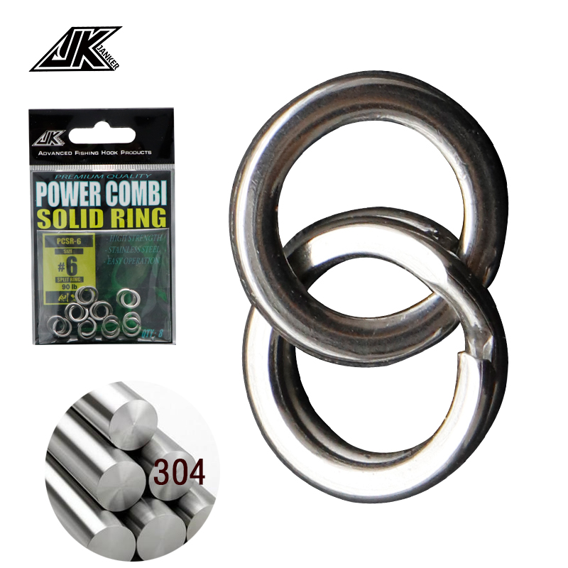 JK 55-200LB Power Combi Stainless Steel Fishing Split Rings <font><b>Lure</b></font> Solid Ring Loop For <font><b>Blank</b></font> Crank Bait Tool Kit Metal Key Holder image