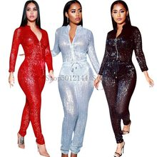 Dashiki Afrikaanse Kleding 2020 Vrouwen Overalls Lange Mouwen Herfst Winter Vrouwen Overalls Jumpsuits Casual Sexy Afrika Kleding(China)