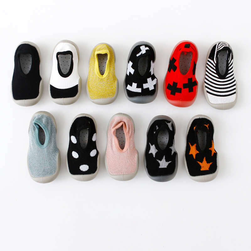 2019 New Baby Shoes Socks Baby Indoor Shoes Non-slip Cartoon Baby Socks Shoes Baby Toddler Shoes Soft Rubber Bottom Floor Socks