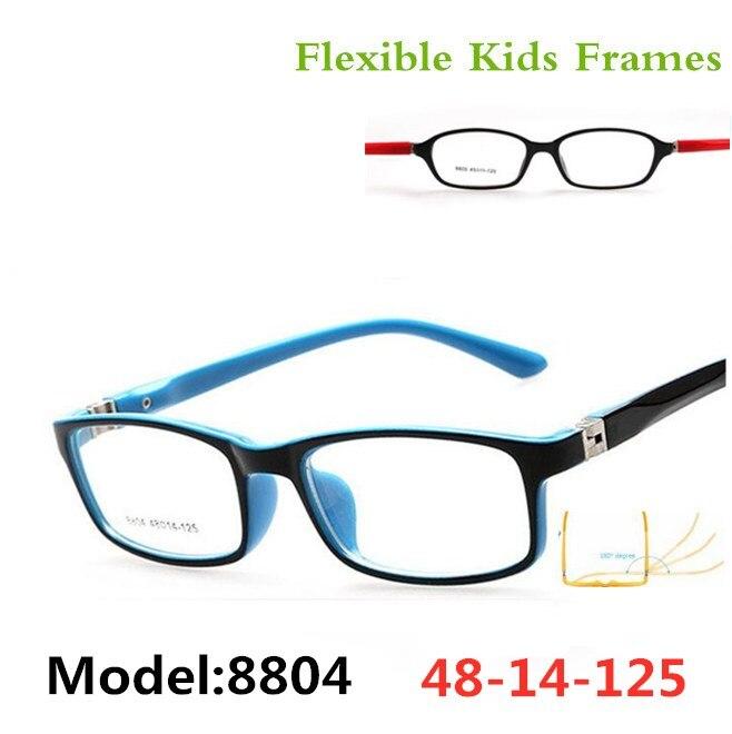 Optical Glasses frame For children boy girls Myopia eyeglasses frames with 0 degree lenses Plain mirror Points Kids Unisex 8804
