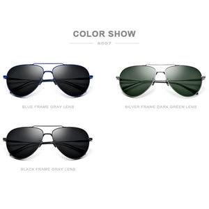 Image 5 - FONEX Reinem Titan Polarisierte Sonnenbrille Männer Luftfahrt Sonnenbrille für Männer Neue Fahren Outdoor Aviador UV400 Shades 8507