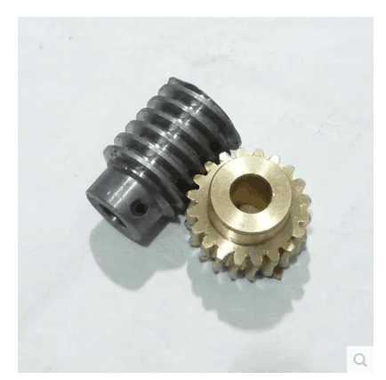 1Set 1M-20T Reduction Ratio:1:20 Copper Worm Gear Reducer Transmission Parts Gear Hole:5mm Rod Hole:5mm