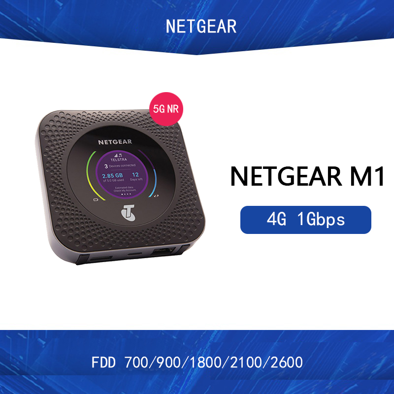 Unlocked Netgear Nighthawk M1 MR1100 4GX Gigabit LTE Mobile Router 1Gbps WiFi Hotspot +2PCS Antennas PK HUAWEI E5788