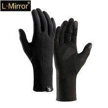 L.Mirror  1 Pair Winter Men & Women Touch Screen Gloves, Anti-slip Couple Lightweight warm winter Gloves pair of fashionable button stripy touch screen thicken pu gloves for men