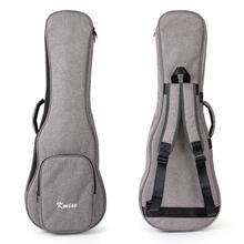 Kmise укулеле Gig сумка для переноски чехол с диагональю 32 дюйма для баритон укулеле бас строи guitalele холст светло-серый