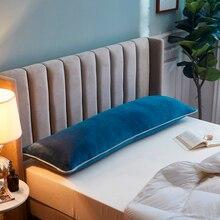 Soft Flannel Long Pillow Case Large Size 120/150/180cm Bedding Body Pillowcase Comfortable Pillow Cover