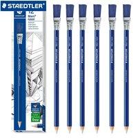 Стильный ластик для карандашей STAEDTLER 526 61, 6/12 шт., стильный Ластик + щетка, школьные канцелярские принадлежности, ластик для карандашей, Шарик...