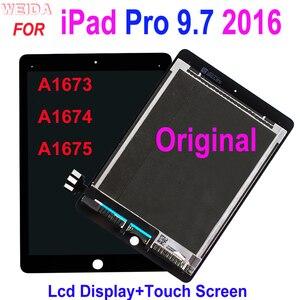 Оригинальный ЖК-дисплей для iPad Pro 9,7 2016 A1673 A1674 A1675, ЖК-дисплей кодирующий преобразователь сенсорного экрана в сборе iPad 7 iPad Pro 9,7