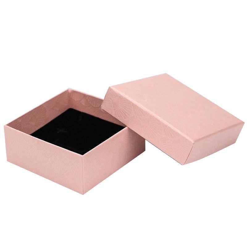 สแควร์ Scallop กล่องเครื่องประดับแหวนสร้อยคอต่างหูสร้อยข้อมือกล่องหมั้นเครื่องประดับของขวัญกล่อง