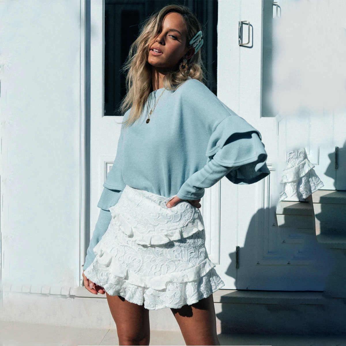 Moletom Feminino Direct Selling Sale Unicorn Panda 2019 Autumn And Winter Lotus Leaf Sleeve Pit Shirt Hoodies Women's Clothing