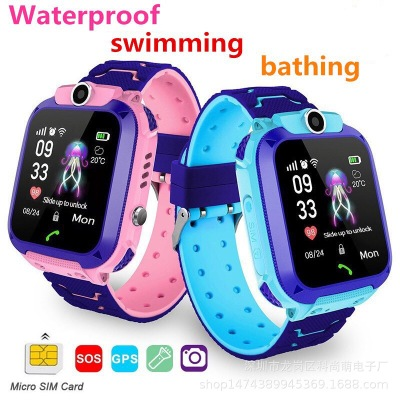 Waterproof Kids Q12 Smart Watch SOS Antil-lost Smartwatch Baby Clock Call Location Tracker Locator Smartwatch No Sim Card