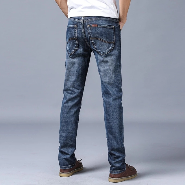 Men's Jeans New Slim Straight Stretch