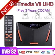 Nowy Gtmedia V8 UHD DVB S2 odbiornik satelitarny wbudowane wi fi wsparcie YouTube z 3 rok europa cccam lepiej V8 POR2 freesat V8 UHD