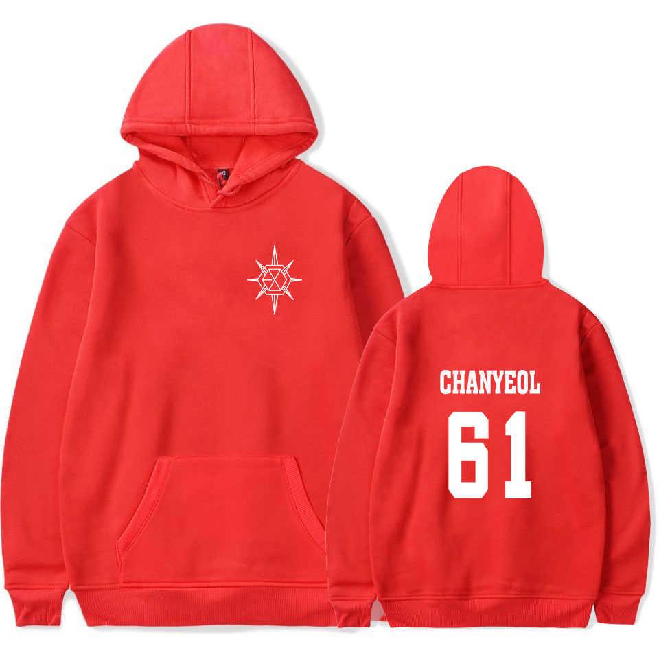 Kpop EXO Planet 5 مروحة دعم هوديس النساء الرجال الشارع الشهير الصوف الدافئة البلوز للجنسين K-POP XIUMIN كاي CHANYEOL الملابس