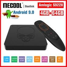 Mecool TV, pudełko nowy Beelink GT KING Android 9.0 TVBOX S922X czterordzeniowy 4GB + 64GB BOX TV Bluetooth 4.1 1000M LAN USB 3.0 dekoder