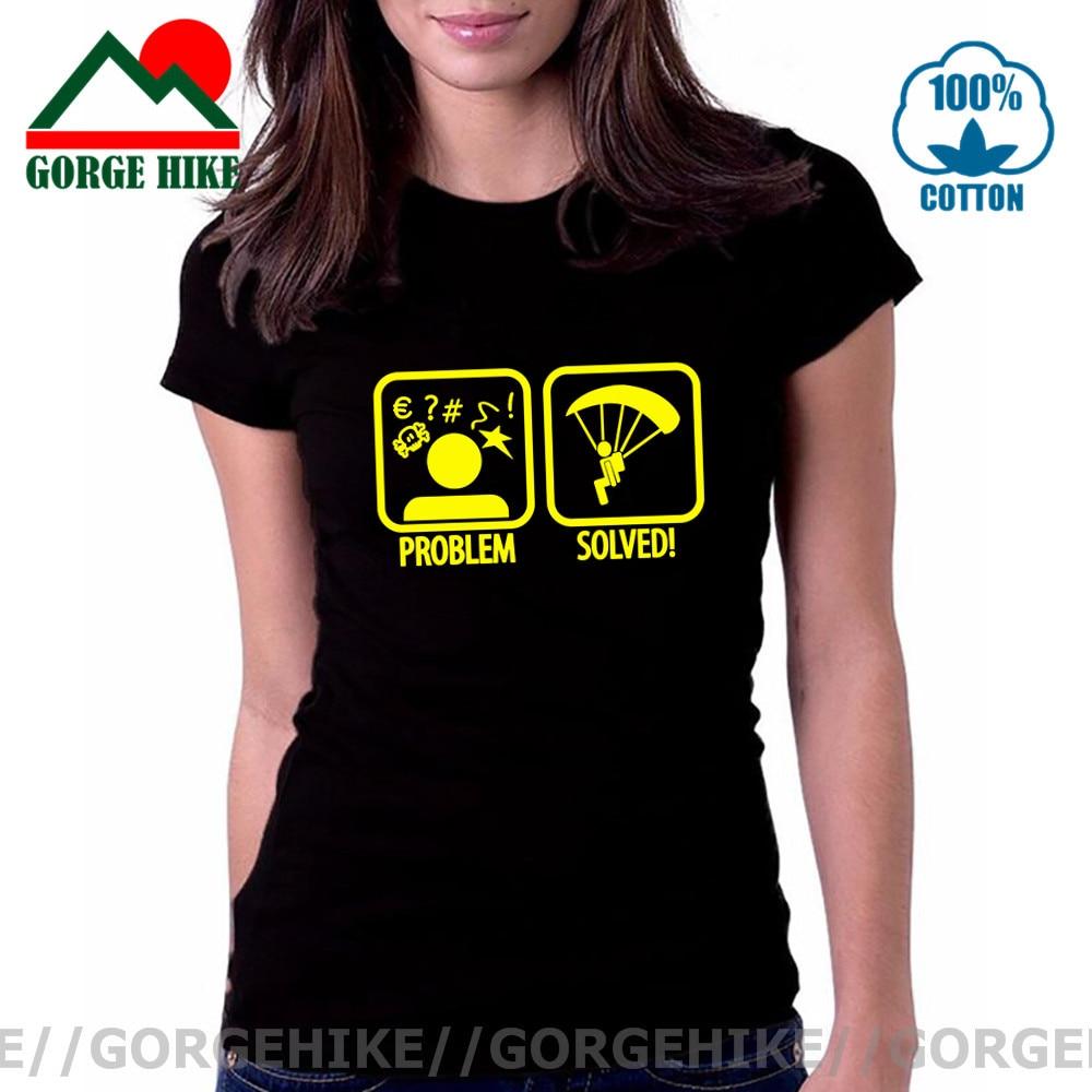 Altitude Problem Womens Funny Sky Diving T-Shirt Free Fall Parachute Regiment