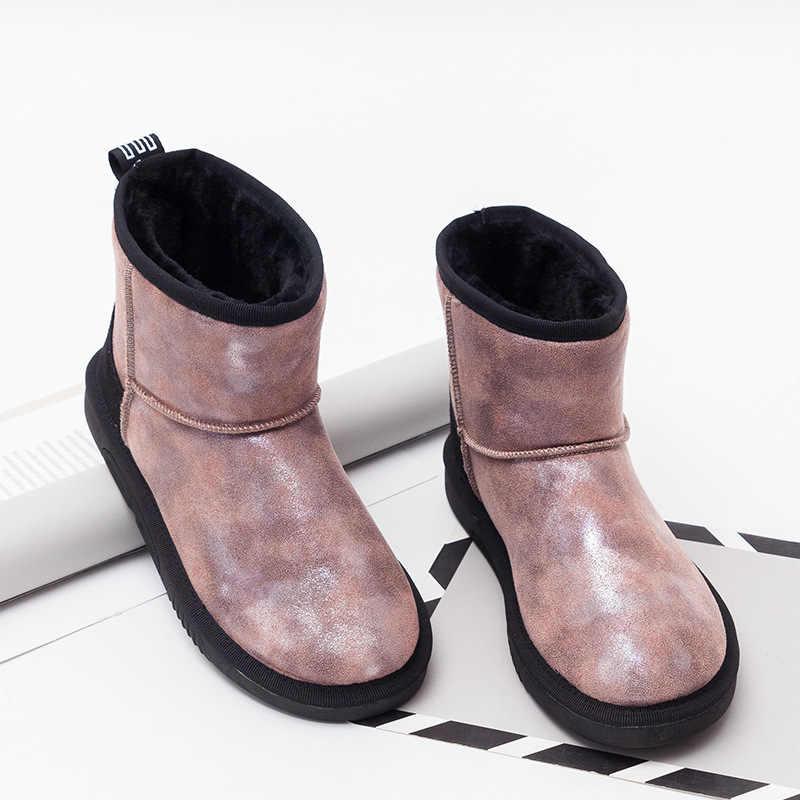 Botas de nieve de marca botas de tobillo cálidas de felpa para mujer botas de Invierno para mujer zapatos de moda zapatos de mujer Botines de Invierno para mujer botas