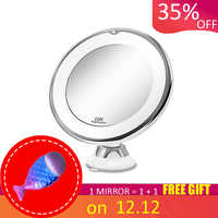 Makeup Vanity Mirror With 10X Lights LED Lighted Portable Hand Cosmetic Magnification mirror Light up Mirrors VIP Dropshipping