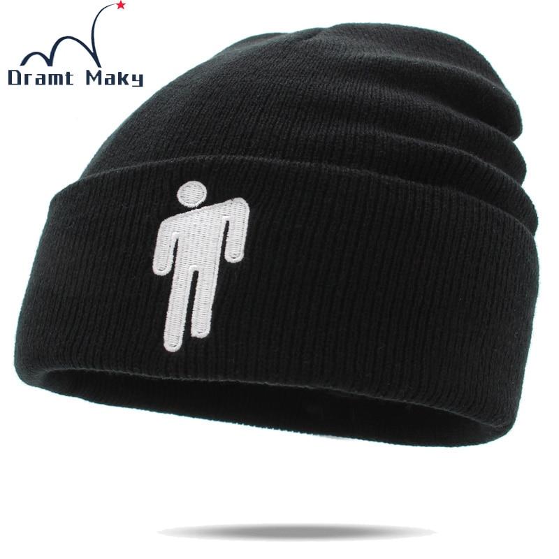 Singer Billie Eilish   Beanie   Hat Women Men Knitted Winter Hats For Women Men   Beanies   Bonnet Embroidery gorro women's hat autumn