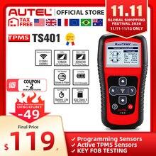 Autel MaxiTPMS TS401 système de contrôle de pression de pneu, outil de Diagnostic OBD2, TPMS, avec programmation par capteur, 315 433MHZ