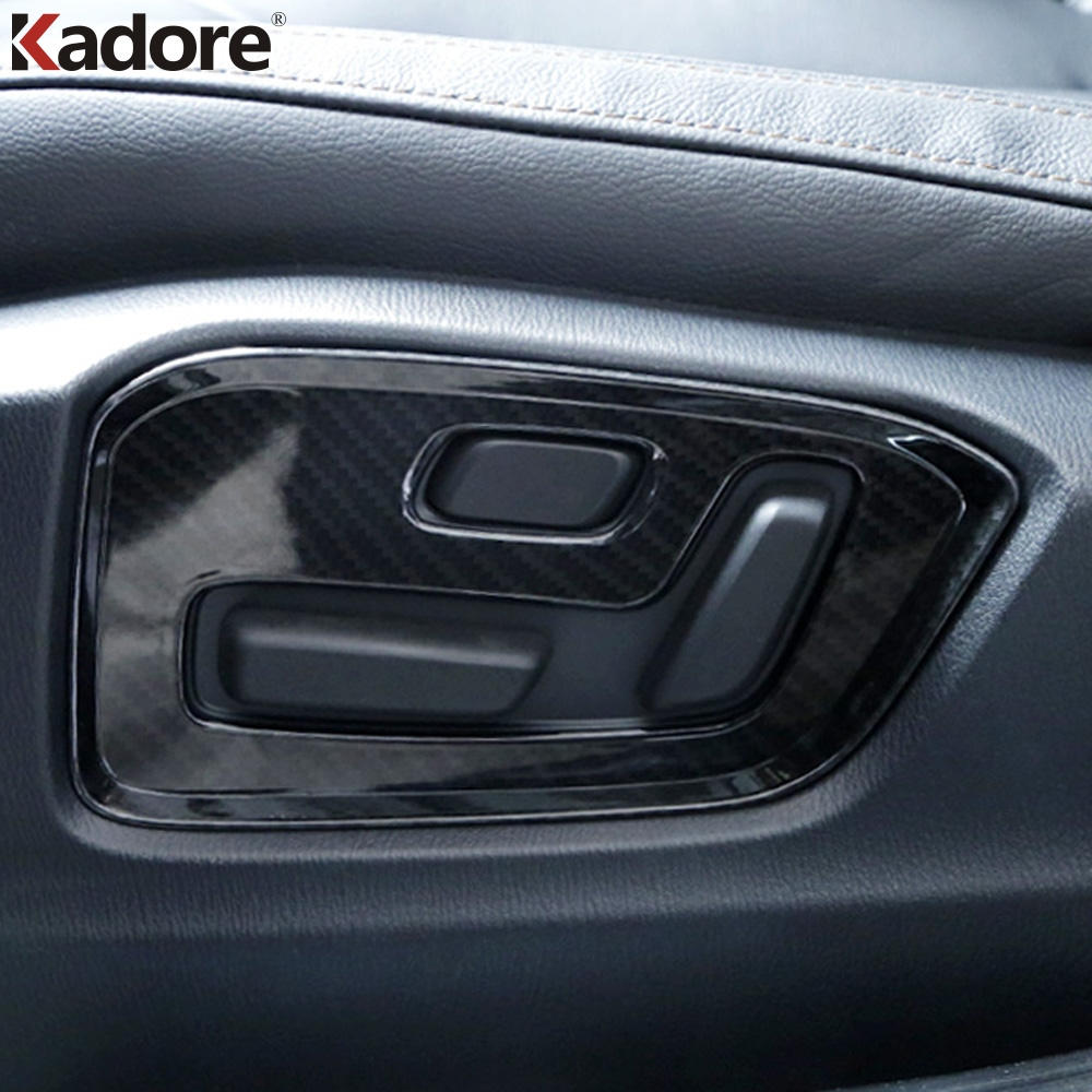 For <font><b>Mazda</b></font> <font><b>CX5</b></font> CX-5 KF 2020 2017 2018 2019 Carbon fiber Interior Car Accessories Door Buttons Seat Adjustment Panel Cover Trim image