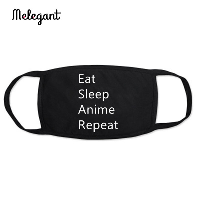 1 Pc Cotton Black Mouth Mask Washable Reusable proof Flu Mouth-muffle 4