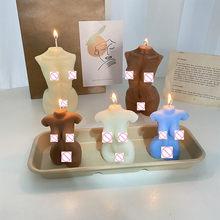 Ins artístico corpo aromaterapia vela weeding vela festa decoração de mesa dia dos namorados presente ornamentos criativos decoração