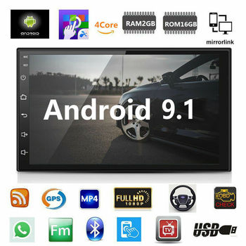 Android 9.1 Car Stereo GPS Navigation Radio Player WIFI 7 Auto Car MP5 Player Bluetooth Multimedia USB 2din Autoradio Car Monit image