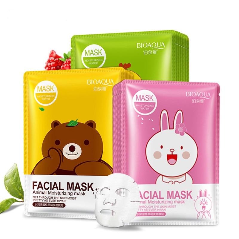 Animal Cartoon Moisturizing Day And Night Hydrating Facial Mask Anti-Aging Oil-control Face Mask Mascarillas Skin Care