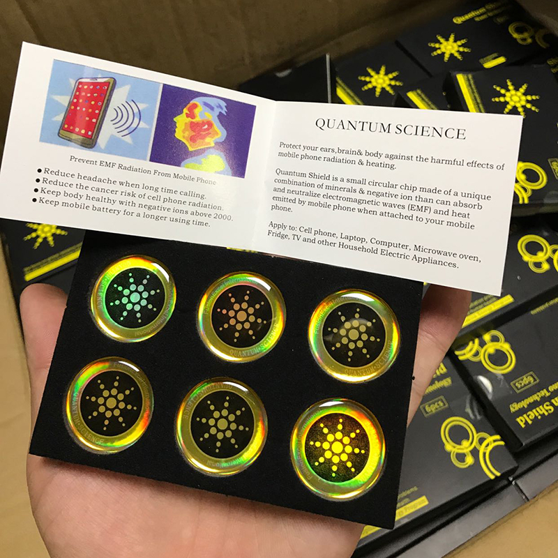 Quantum Shield Cell Phone Anti Radiation Protection Sticker